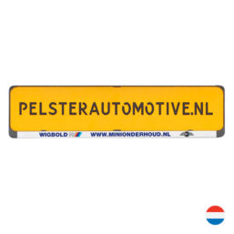 Clipper Kentekenplaathouder met tekstrand van Pelster Automotive
