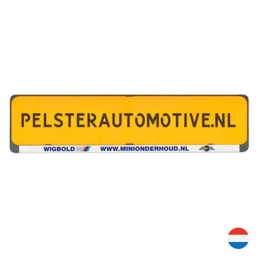 Clipper Kentekenplaathouder met tekstrand van Pelster Automotive