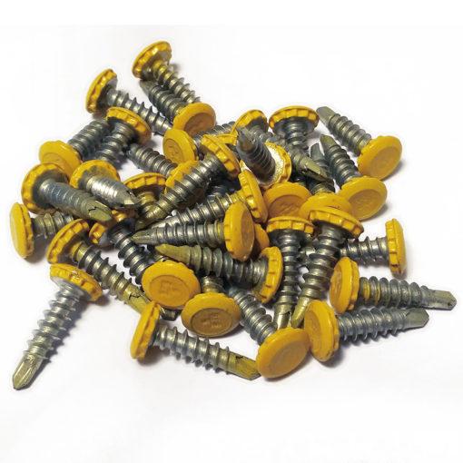kentekenplaat anti-diefstalschroeven geel
