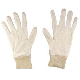werkhandschoenen gebreid voor in de werkplaats tegen verwondingen en vuil