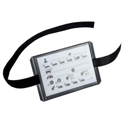 bandenopslaglabel klittenband met standaard kaartje van pelster automotive