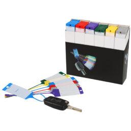 sleutellabel pakket 6 verschillende kleuren 100 stuks per kleur van pelster automotive