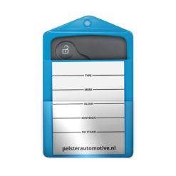 sleutelkaarthouder blauw