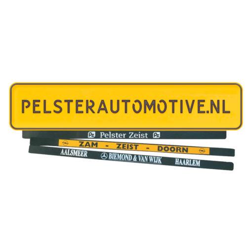 Pelster Plakstrip gemaakt van kunststof met personaliseringsmogelijkheden van pelster automotive