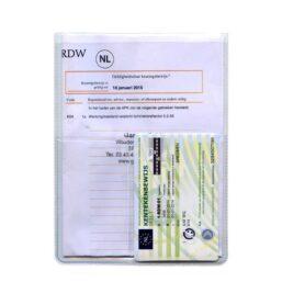 U-mapje creditcard bedrukt voor meerdere autopapieren met eigen logo en/of bedrijfsnaam
