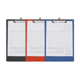 werkorder map in het rood, blauw en zwart van pelster automotive