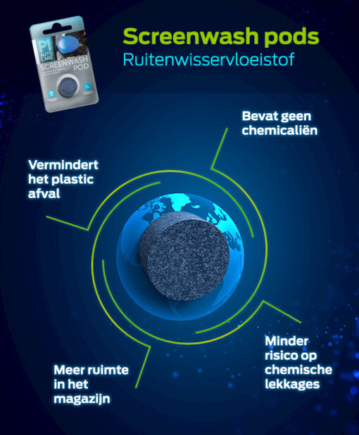 Screenwash pods ruitenwisservloeistof Pelster Automotive