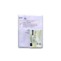 u-mapje creditcard met extra vakje voor autopapieren die niet bedrukt is
