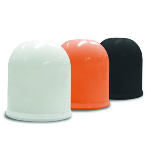 Trekhaakdop in het wit, oranje en zwart van pelster automotive