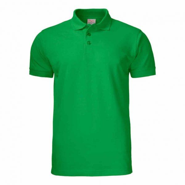 Groene polo met korte mouwen met logo bedrukken   Pelster Automotive