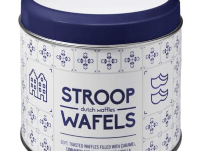 Delftsblauw stroopwafelblik full-color bedrukken | Pelster Automotive