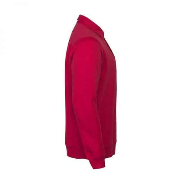 Polo sweater rood met logo bedrukken   Pelster Automotive