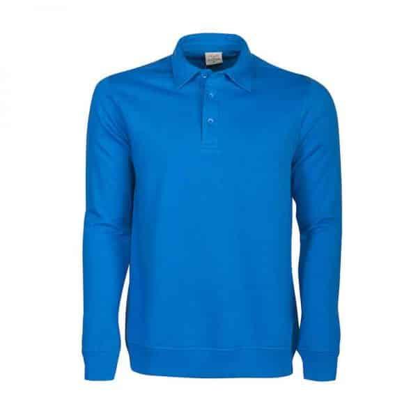 Polo sweater blauw met logo bedrukken   Pelster Automotive