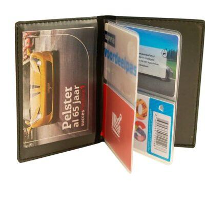 Kentekenmapje creditcard met bedrukking | Pelster Automotive