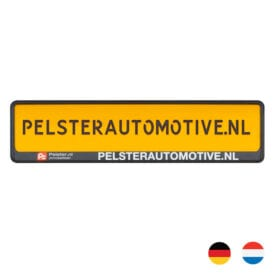 PP kentekenplaathouder met losse PS strip l Pelster Automotive