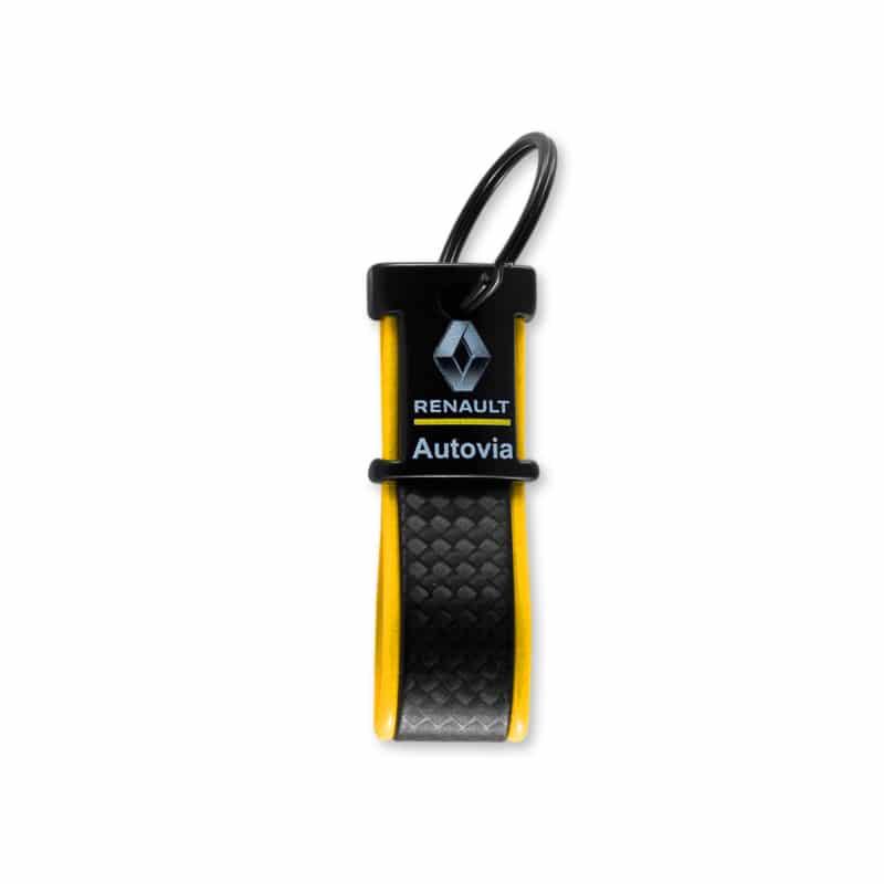 Unieke sleutelhanger zwart Kybon met full-color bedrukking | Pelster Automotive