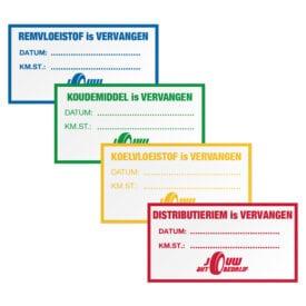 Onderhoudsstickers met je eigen logo | Pelster Automotive