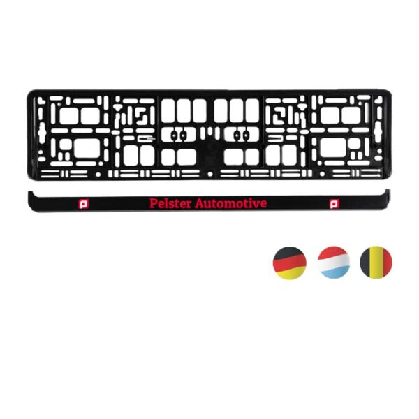 PP kentekenplaathouder met losse PS strip l Pelster Automotive
