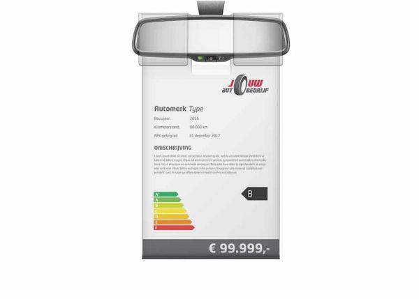 Binnenspiegel Prijskaarthouder met UV-coating | Pelster Automotive