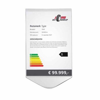 Dashboard prijskaarthouder voor in de showroom | Pelster Automotive
