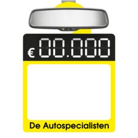 Full-color prijskaart spiegelhanger met eigen ontwerp l Pelster Automotive