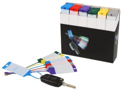 Sleutellabel pakket met 600 gekleurde labels | Pelster Automotive