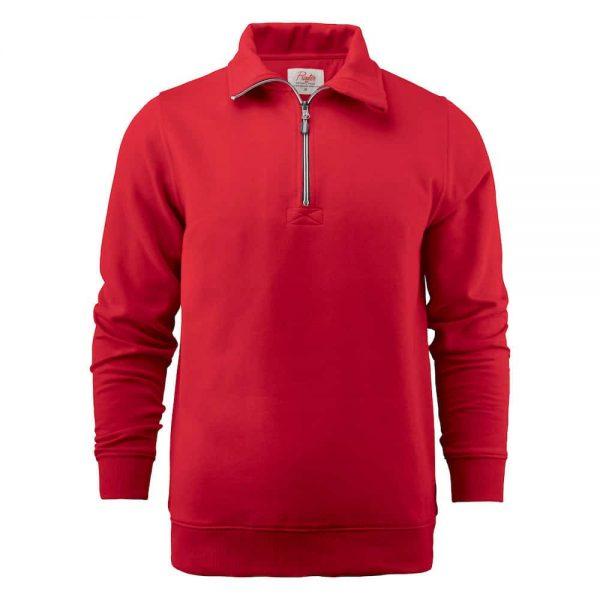 Rode zip sweater met logo bedrukken | Pelster Automotive