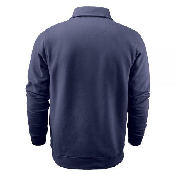 Donkerblauwe zip sweater met logo bedrukken | Pelster Automotive