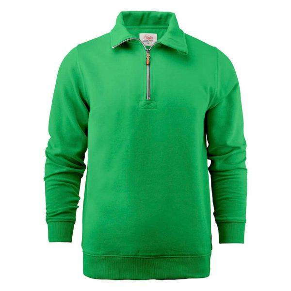 Groene zip sweater met logo bedrukken | Pelster Automotive