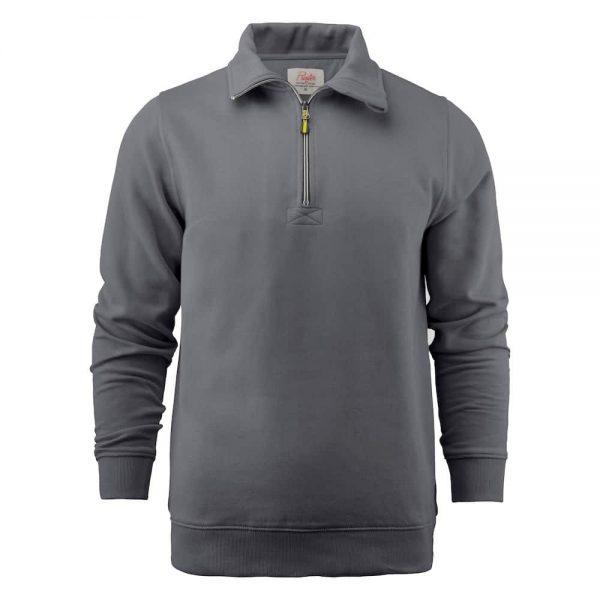 Grijze zip sweater met logo bedrukken | Pelster Automotive