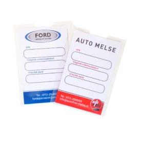 Smeerkaarthoesje met full-color afsprakenkaartje | Pelster Automotive