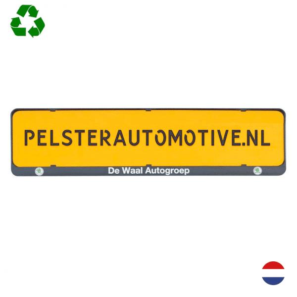 Kentekenplaathouder PZ serie 1 - met tekstrand l Pelster Automotive