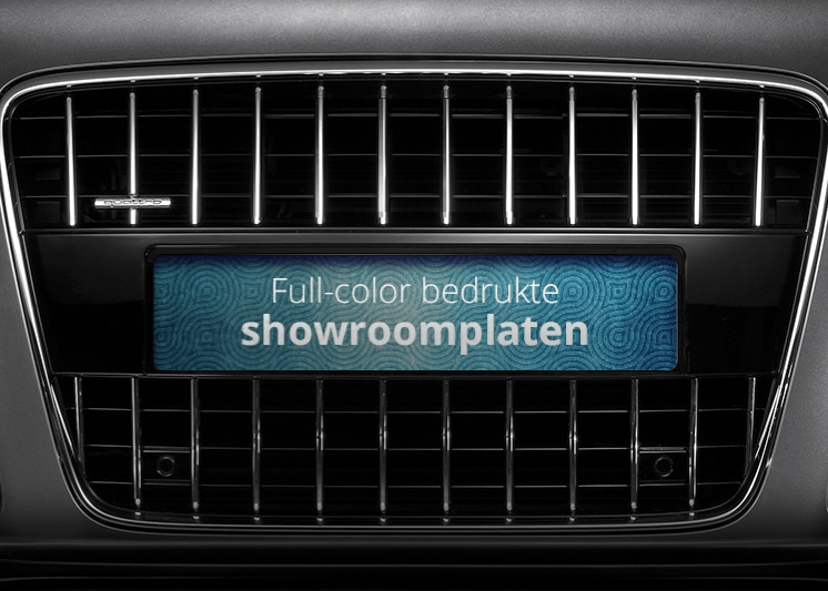 Showroom platen full-color met eigen ontwerp   Pelster Automotive