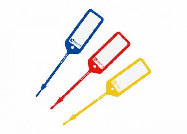 Sleutellabel Teslin stevig en beschrijfbaar met pen   Pelster Automotive