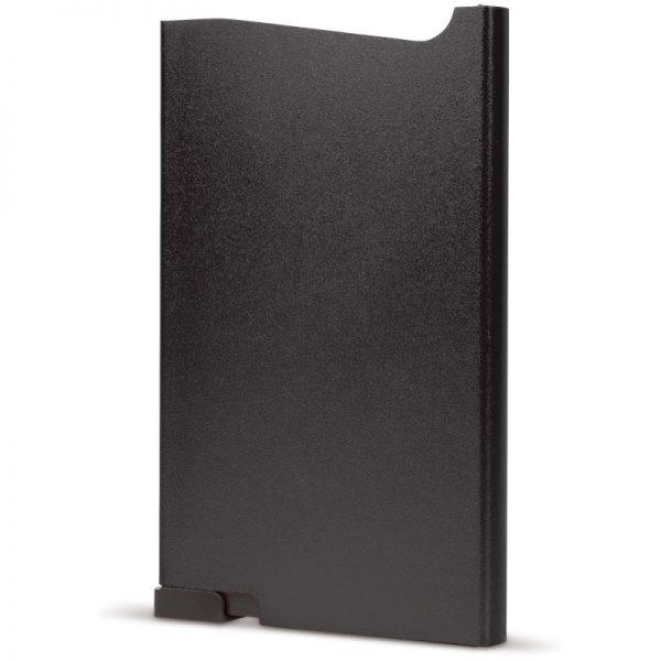 Zwarte aluminium creditcardhouder met gravering   Pelster Automotive