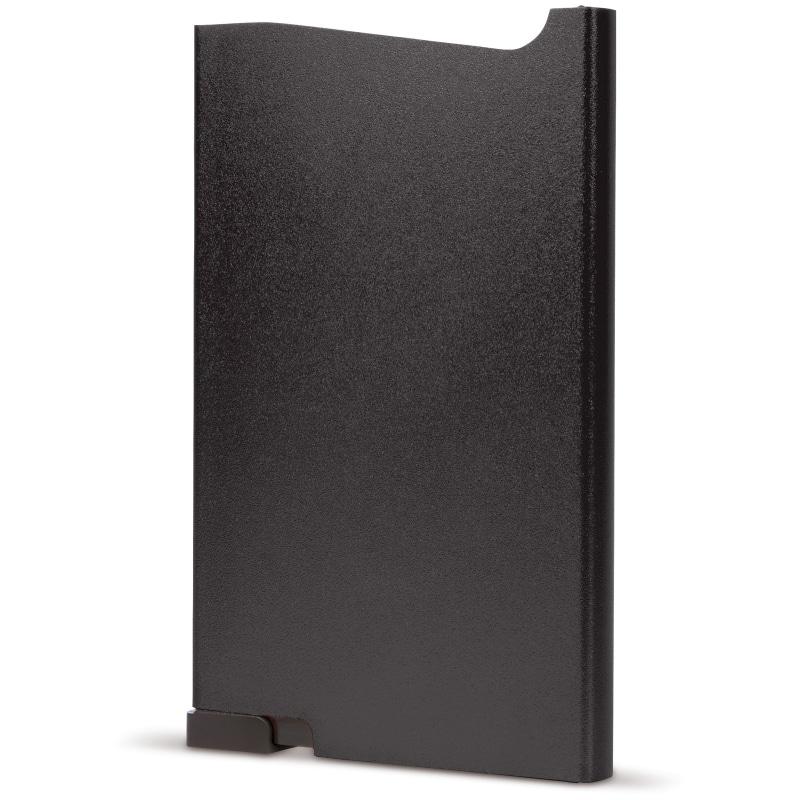 Zwarte aluminium creditcardhouder met gravering | Pelster Automotive