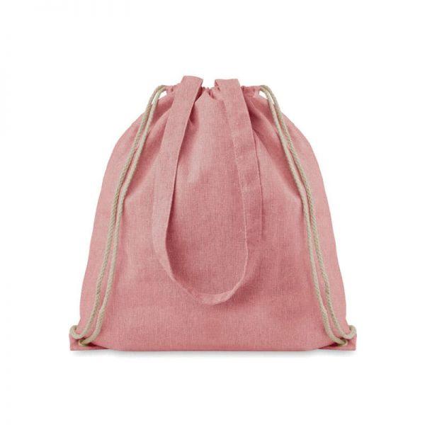 Roze duurzame tas bedrukken? Gerecyled katoen/polyester   Pelster Automotive