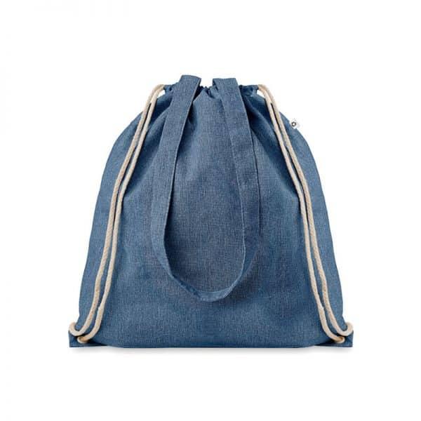 Blauwe duurzame tas bedrukken? Gerecyled katoen/polyester   Pelster Automotive