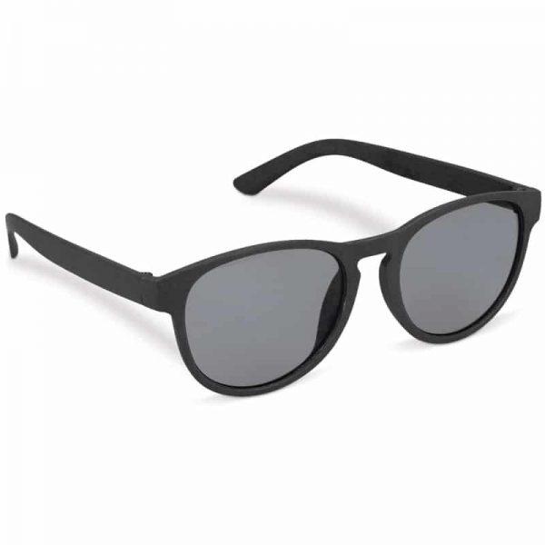 Zwarte duurzame zonnebril van tarwestro met logo   Pelster Automotive