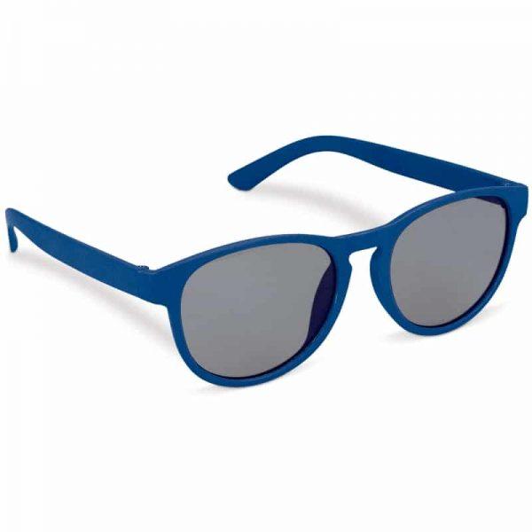 Blauwe duurzame zonnebril van tarwestro met logo   Pelster Automotive