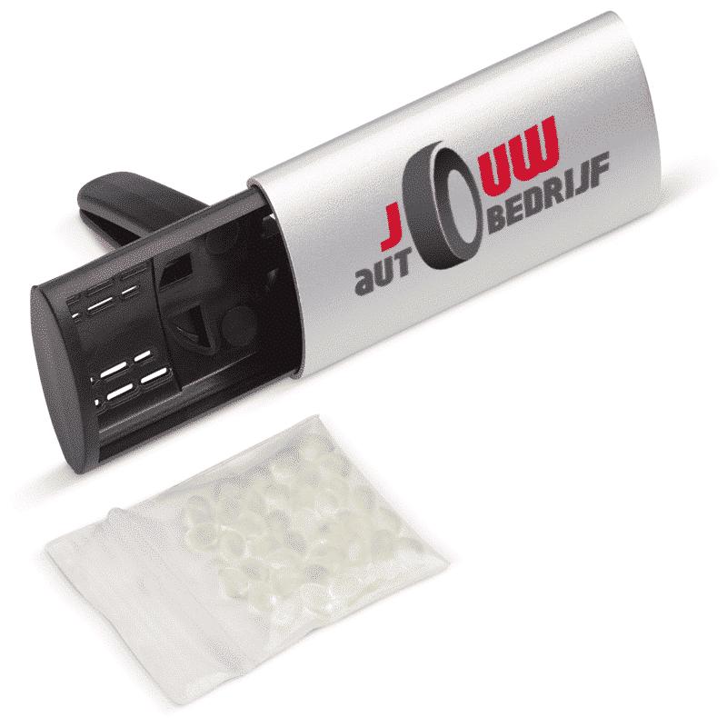 Hervulbare luchtverfrisser met bedrukking - Pelster Automotive