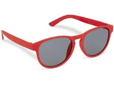 Rode duurzame zonnebril van tarwestro met logo | Pelster Automotive