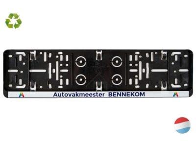 Kentekenplaathouder Serie 1 met full-color tekstrand l Pelster Automotive