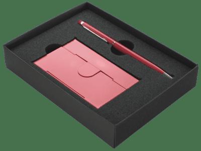 Geschenkpakket met visitekaarthouder en luxe pen | Pelster Automotive