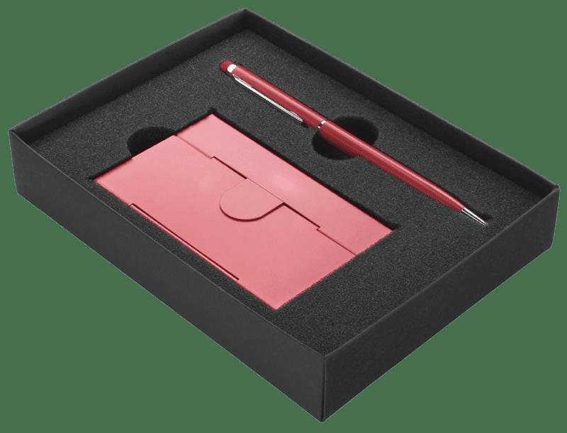 Geschenkpakket met visitekaarthouder en luxe pen   Pelster Automotive