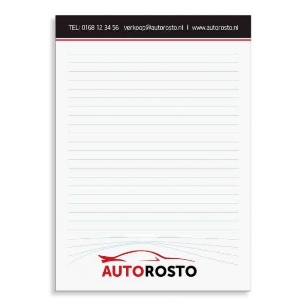 A5 Notitieblok met eigen full-color logo | Pelster Automotive