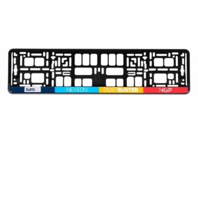 PP kentekenplaathouder met PS strip met doming sticker l Pelster Automotive